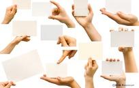 展示名片卡片的各种手势