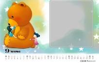 2011年psd儿童台历模板