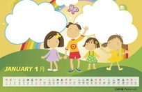 2011年儿童台历[PSD]