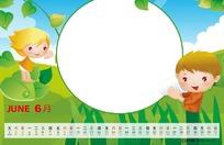 2011年卡通台历设计模板