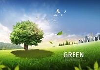 绿色都市图片素材