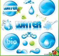water低碳环保图标(水)