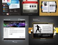 5款网页设计版式矢量素材