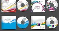 超漂亮4款CD包装矢量素材