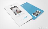 VI套装-工作证 员工卡psd分层效果图模板素材