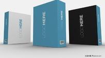 VI套装-软件包装盒效果图psd分层素材