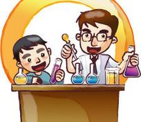 老师和学生做化学实验