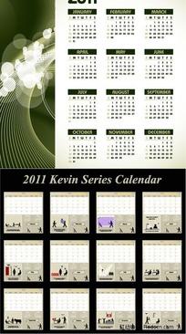 两款2011日历矢量素材