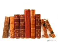 排列整齐的古老书籍