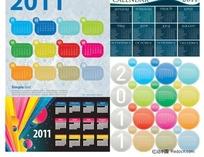 2011年历模板矢量素材
