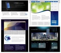 网页设计模板矢量素材