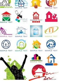 各种房屋主题图标标识大全