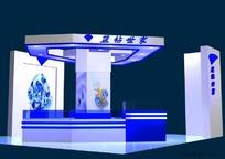 蓝钻珠宝展柜设计