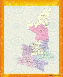 陕西省地图矢量图片_陕西省地图矢量设计素材