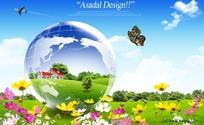 绿色地球家园图片素材