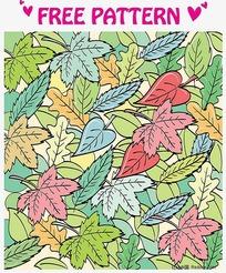 树叶背景底图