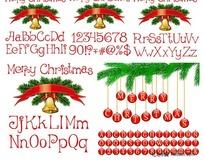 圣诞节字母数字矢量素材