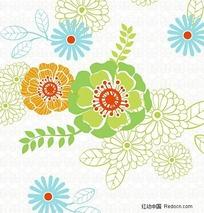 韩国花纹矢量植物