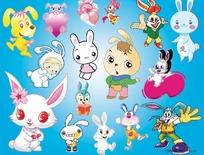 ps卡通兔子素材