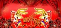 2011春节晚会背景psd分层素材