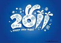 2011年可爱创意字体矢量素材