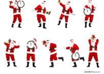 各种动作姿势圣诞老人