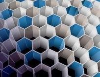 3D炫彩蜂巢文本框模板矢量素材001