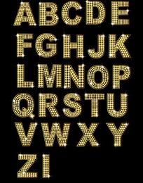 钻石英文及数字矢量素材(金色)