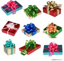 各种形状大小的礼品盒
