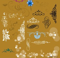 分层欧式花纹素材