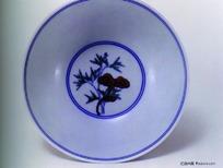 中国瓷器文物-人物图案青花瓷碗
