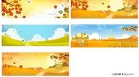 唯美秋季矢量图