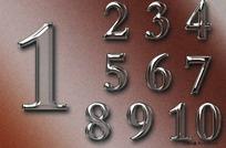 玻璃效果数字