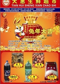 2011春节超市DM单 宣传单