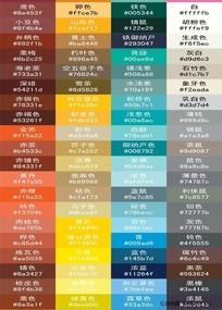 色量的色标书还有色值