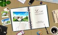 恋爱日记图片素材