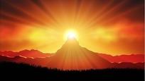 日出矢量图