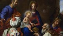 油画女人与圣婴