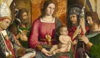 油画女人与婴儿