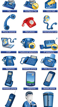 通讯设施图标矢量素材