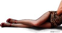 性感黑色网袜美腿