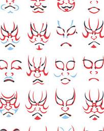 日本花纹人像图案1