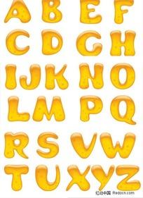 26个立体英文大写字母
