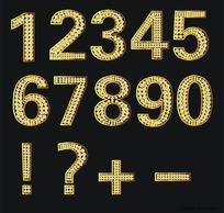 阿拉伯数字钻石矢量字