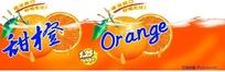 甜橙橙汁饮料包装瓶贴设计