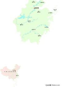 浙江省矢量地图