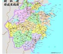 浙江省行政区域-矢量地图