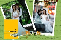 阳光季节绿色温暖婚纱摄影
