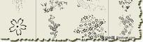 日本蜡染花纹笔刷
