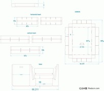展示盒 展开结构3